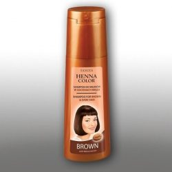 Henna color hajsampon gyógynövényes barna és vörös hajra 250 ml