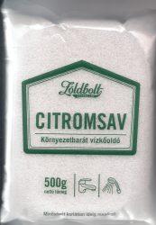 Zöldbolt citromsav 500 g