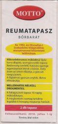 MOTTO reumatapasz bőrbarát (sárga)